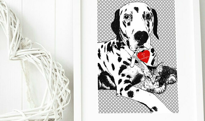 Birthday Gift Ideas Leapup British Pop Art And Pet Portraits By North East Artist Leanne Warren