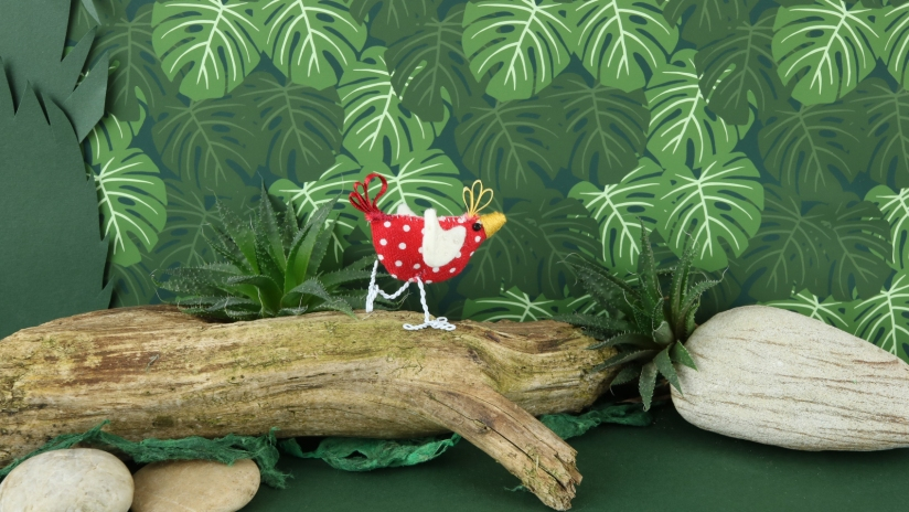 'Little Red' by Daisylions and 'Monstera Leaf print' by Lydia Meiying