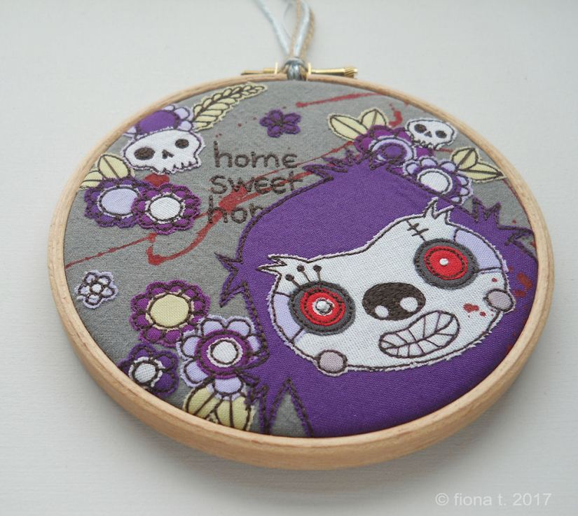 Purple Sloth Zombie by Fiona T
