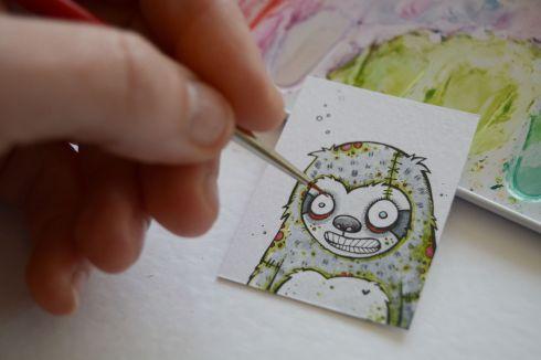 Zombie Sloth by Little Black Heart