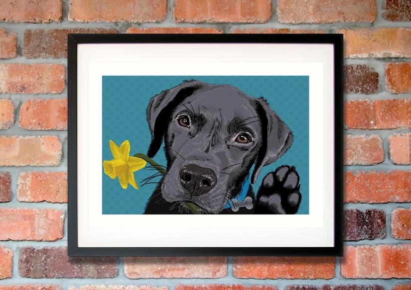 Labrador pop art